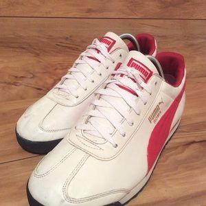 Puma Vintage Womens Red/White Running Shoe Sz 9.5